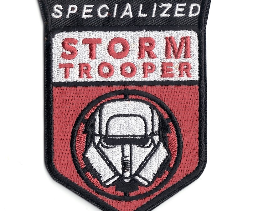 New Solo Movie Specialized Stormtrooper Embroidered Iron-On Patch available on Walmart.com
