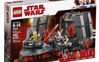 New Last Jedi Snoke's Throne Room Lego Set available on Walmart.com