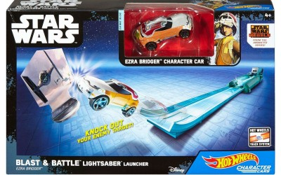 New Rogue One (Star Wars Rebels) Hot Wheels Blast & Battle Lightsaber Launcher Set available on Walmart.com