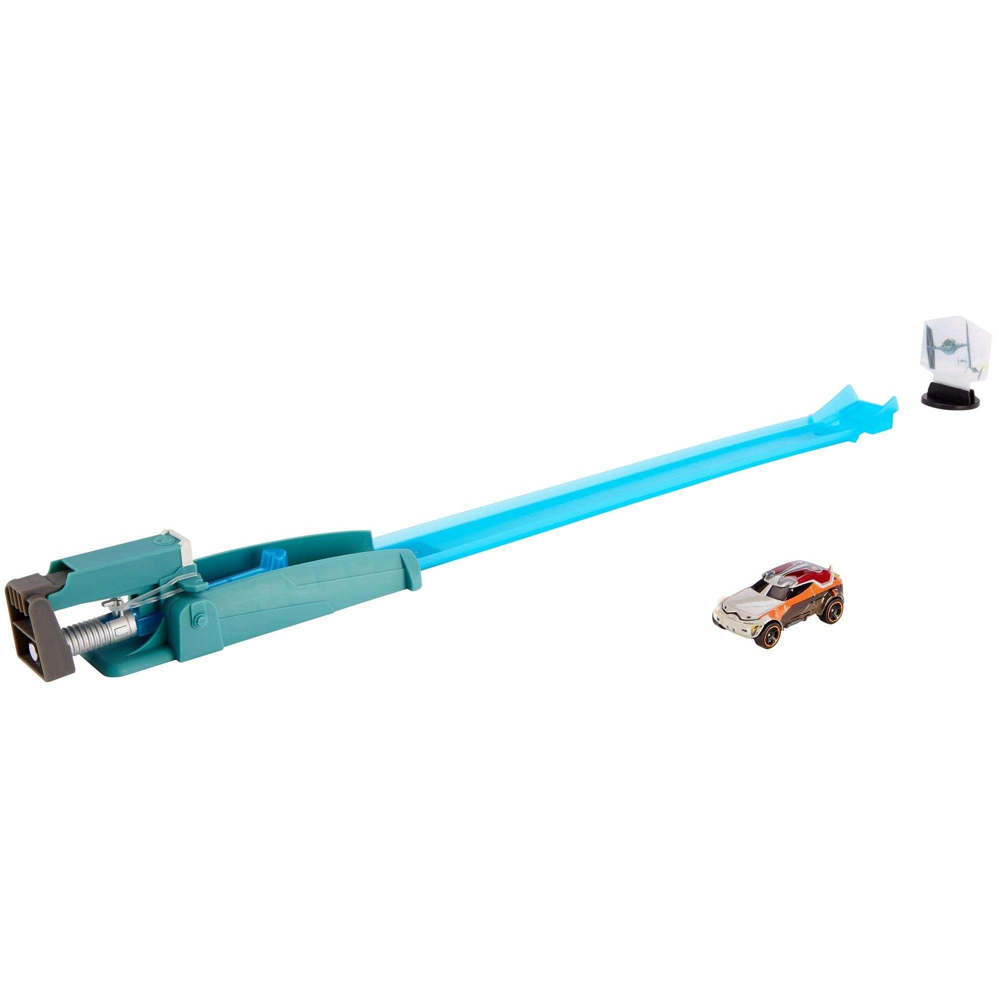 RO (SWR) Hot Wheels Blast & Battle Lightsaber Launcher Set 2