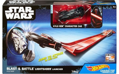 New Rogue One Hot Wheels Blast & Battle Kylo Ren Lightsaber Launcher available on Walmart.com