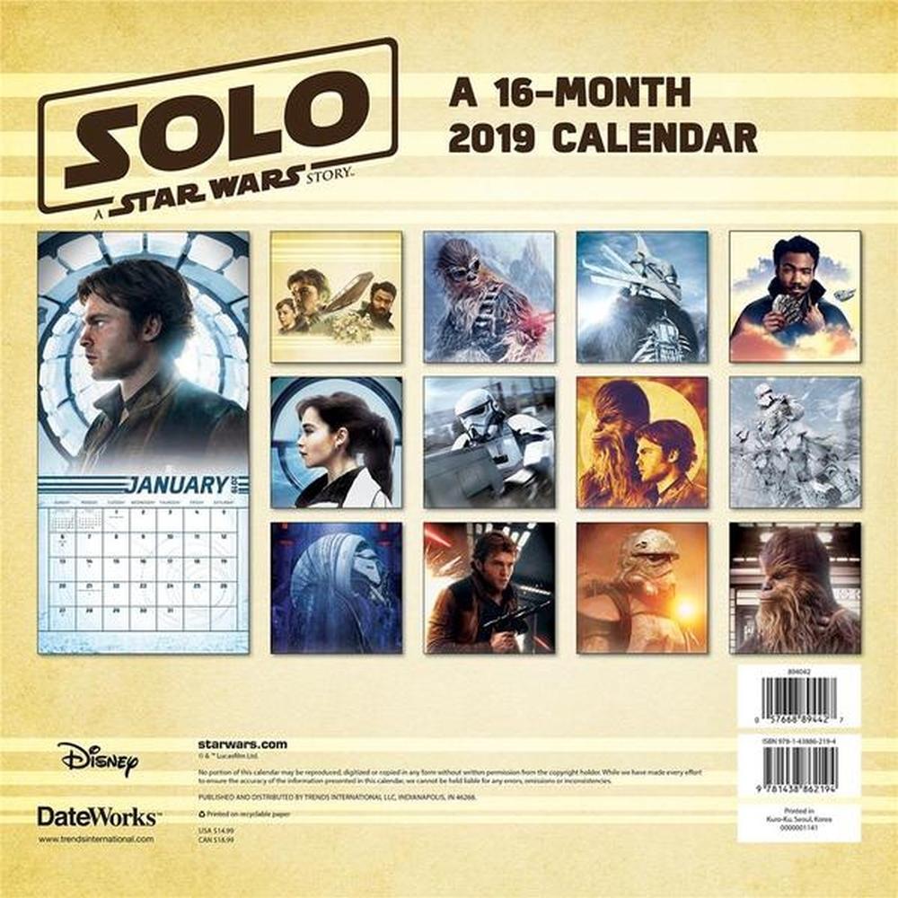 Solo: ASWS 2019 Wall Calendar 2