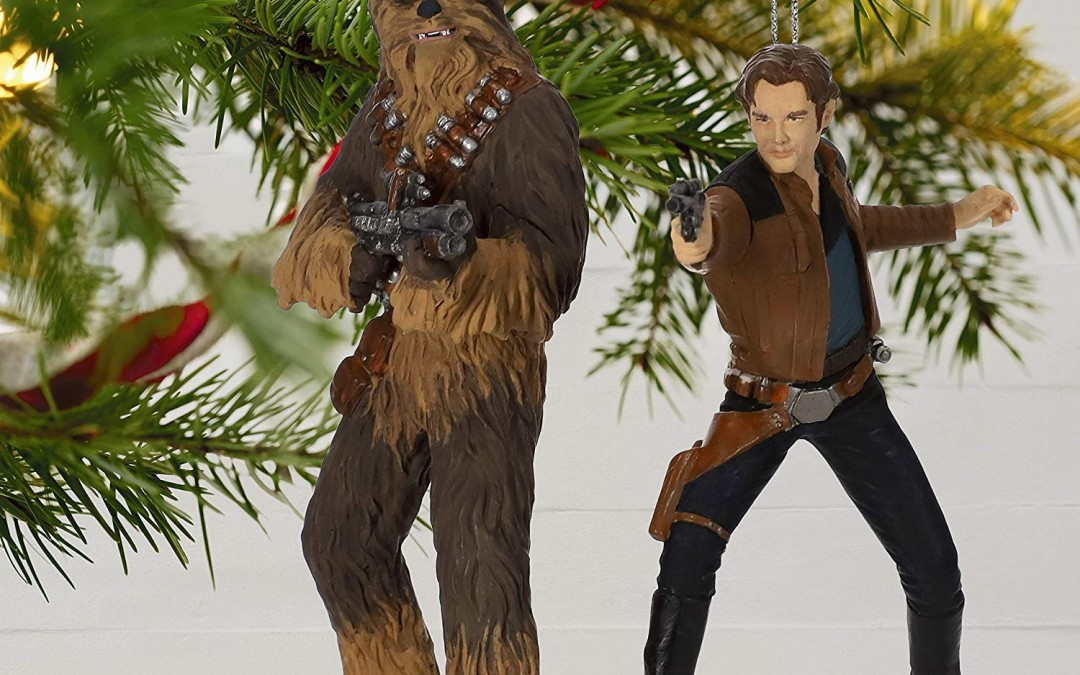 New Solo Movie Han Solo and Chewbacca Hallmark Ornament Set now available!