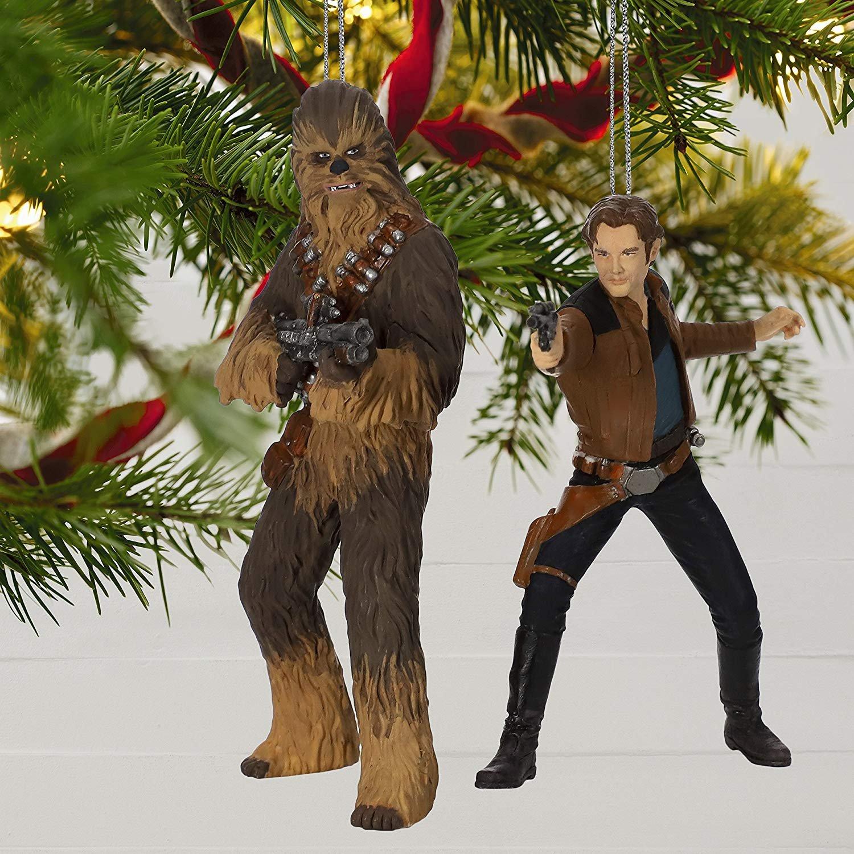 Solo: ASWS Han Solo and Chewbacca Hallmark Ornament Set 1