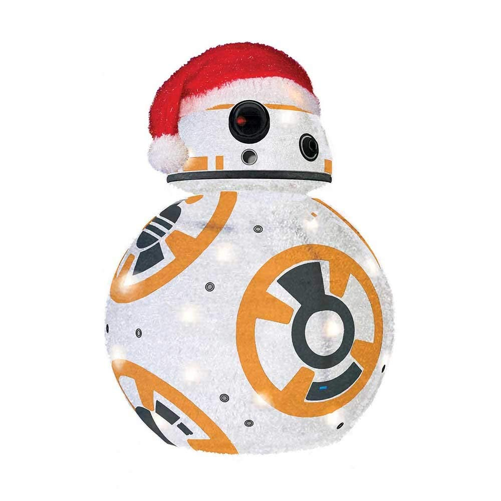 BB-8 Collapsible Lighted Tinsel Décor