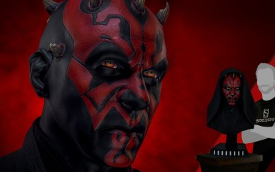 New Phantom Menace Darth Maul Life-Size Bust available for pre-order!