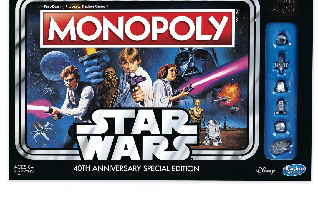 Cyber Monday 2018 Deal Star Wars 40th Anniversary Special Edition Monopoly Game!