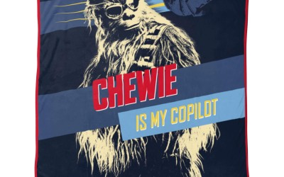 """New Solo Movie """"Chewie is My Copilot"""" Throw Blanket now available!"""