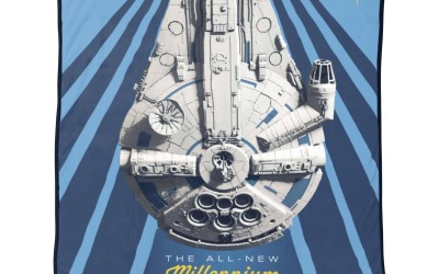 New Solo Movie Millennium Falcon Vehicle Throw Blanket now available!
