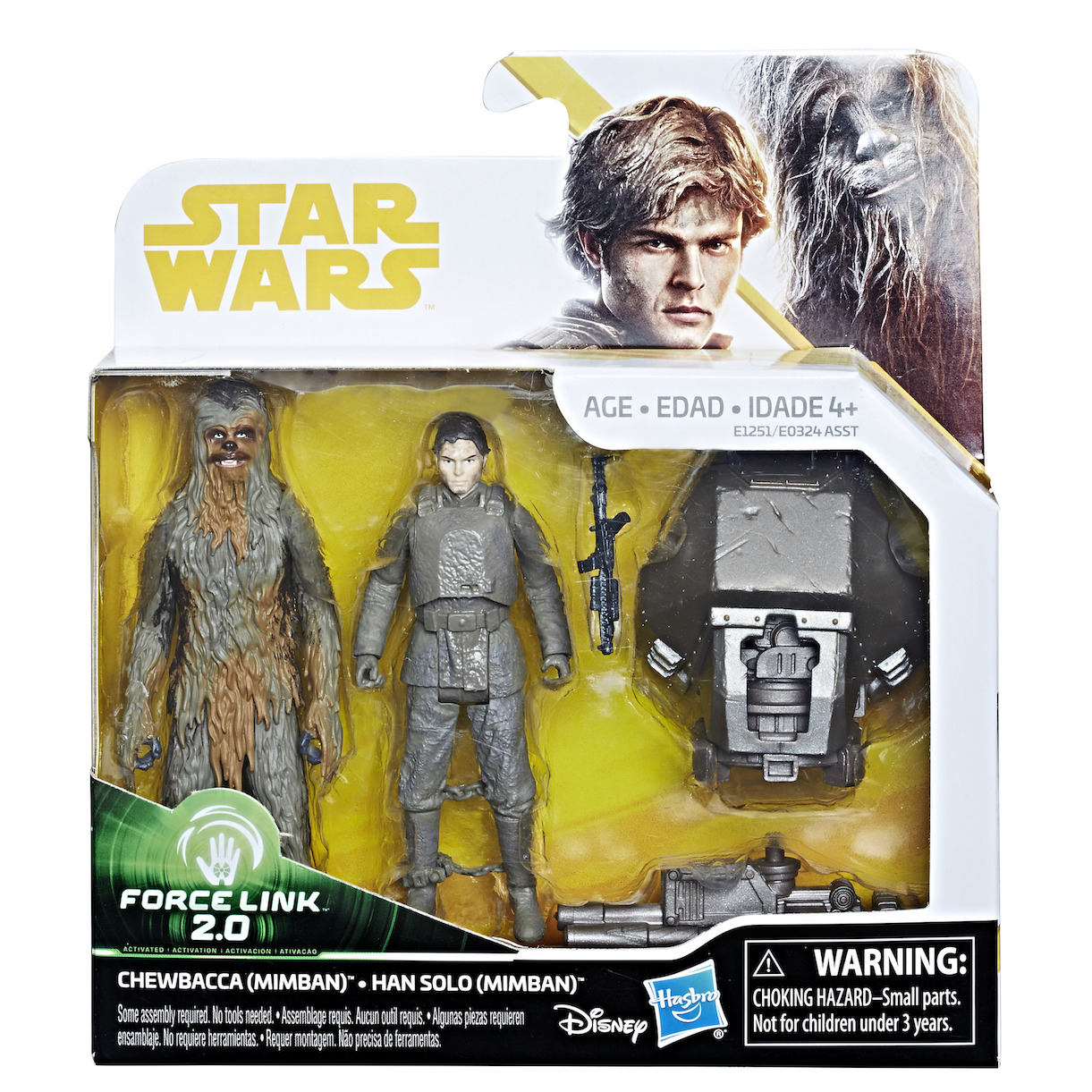 Solo: ASWS Force Link 2.0 Han Solo and Chewbacca (Mimban) Figure Set 1