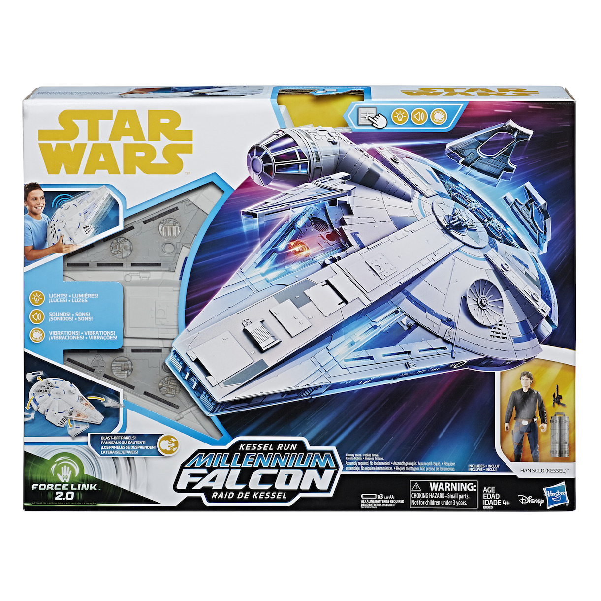 Solo: ASWS Force Link 2.0 Kessel Run Millennium Falcon with Han Solo Figure Set 1