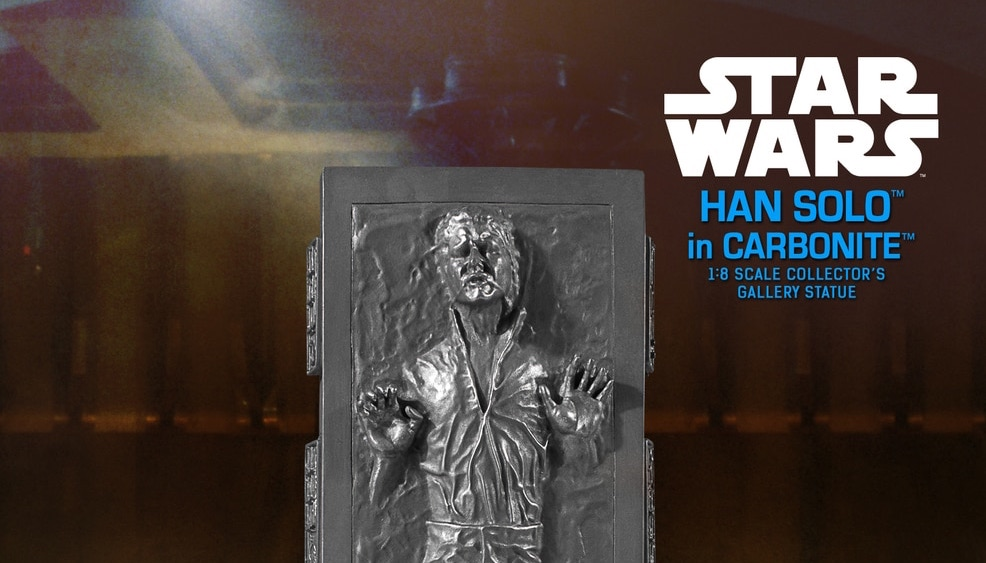 New Empire Strikes Back Han Solo In Carbonite Collector's Gallery Statue available for pre-order!