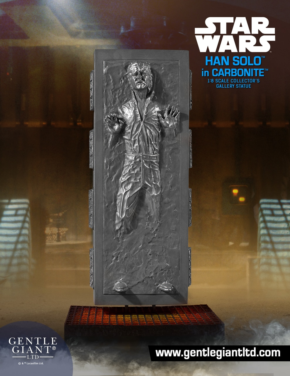 TESB Han Solo In Carbonite Collectors Gallery Statue 1