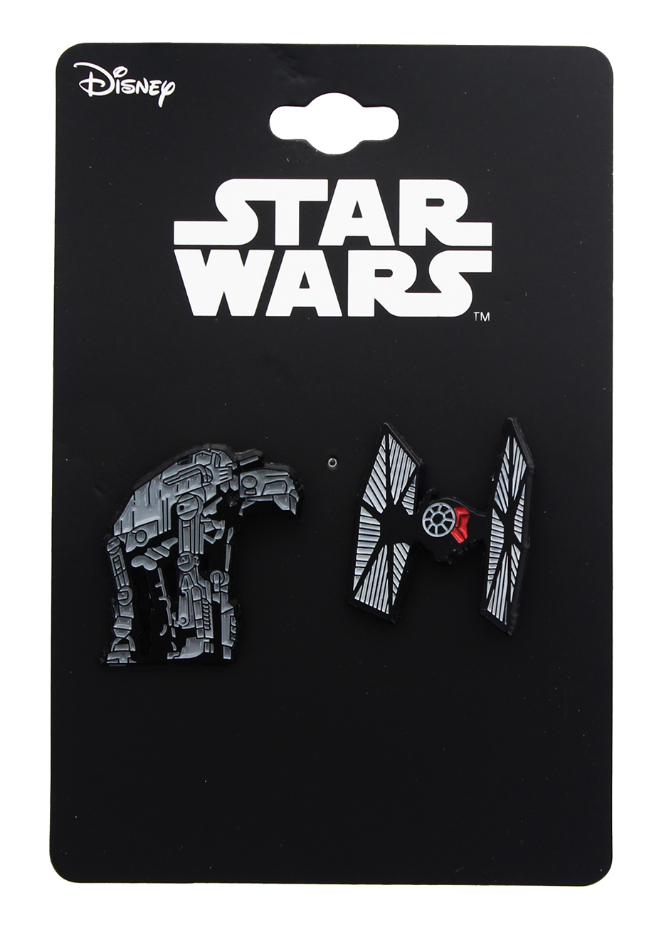 TLJ AT-M6 and Tie Fighter Enamel Collector Pin Set