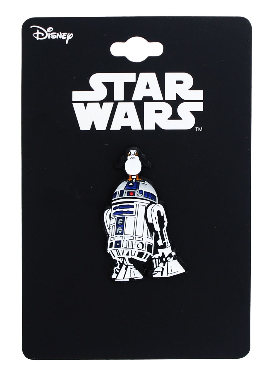 TLJ R2-D2 w/ Porg Enamel Collector Pin
