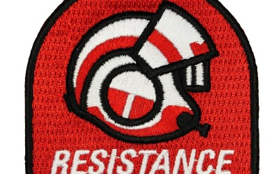 New Last Jedi X-Wing Helmet Resistance Iron On Patch now in stock!