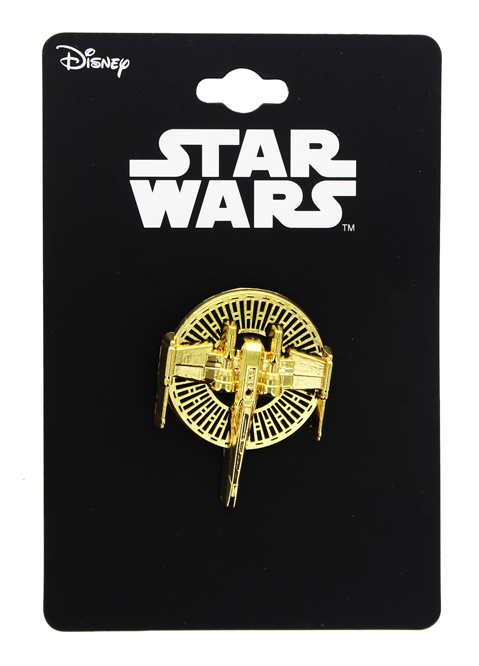 TLJ X-Wing Gold Metal 3D Collector Pin