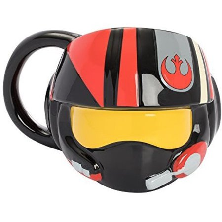 New Last Jedi Poe Dameron's Pilot Helmet Sculpted Mug now available!