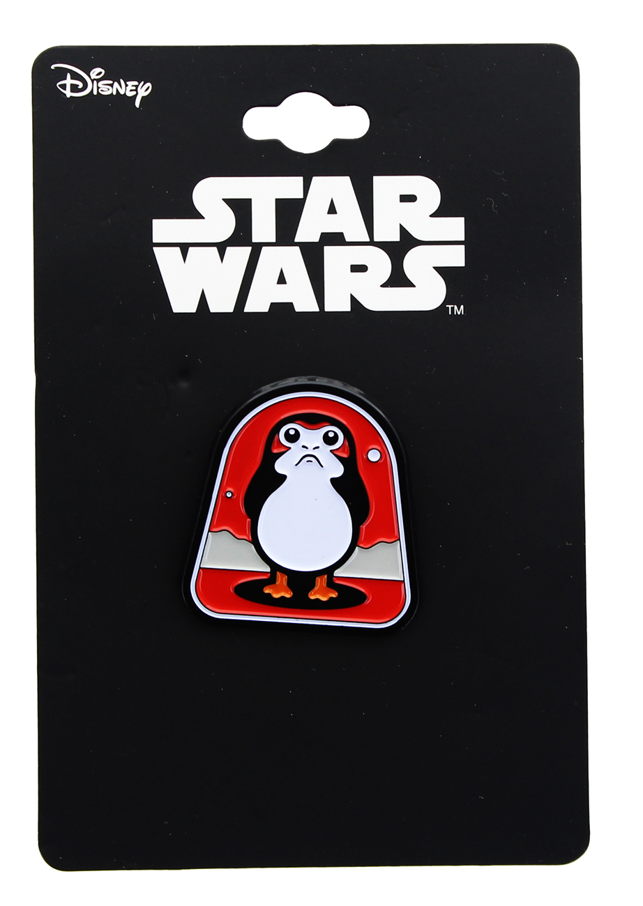 TLJ Porg (Red Background) Enamel Collector Pin