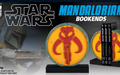 New Star Wars Boba Fett Mandalorian Symbol Bookends now available!