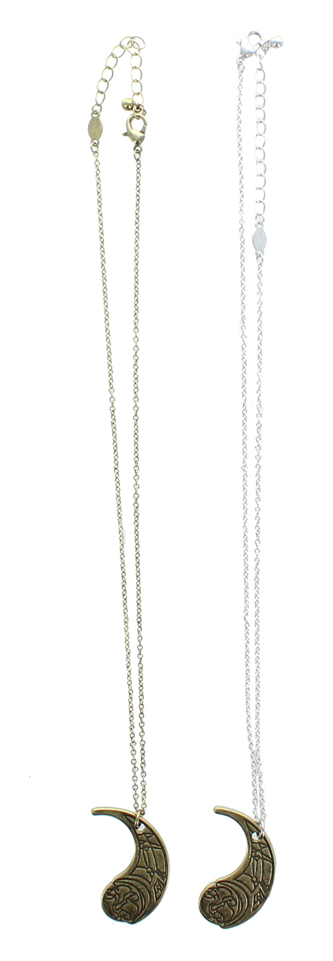 TLJ Crescent Moon Haysian Smelt Pendant Necklace Set 3