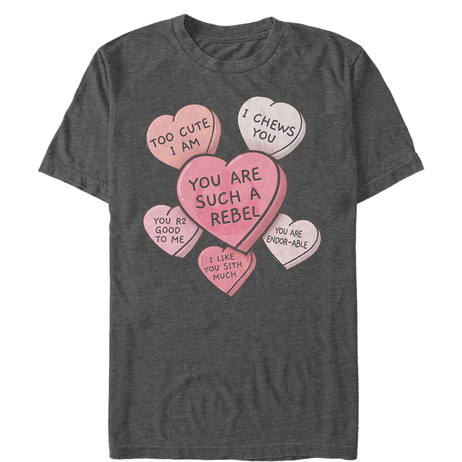 SW Men's Galactic Candy Hearts Valentine's Day T-Shirt