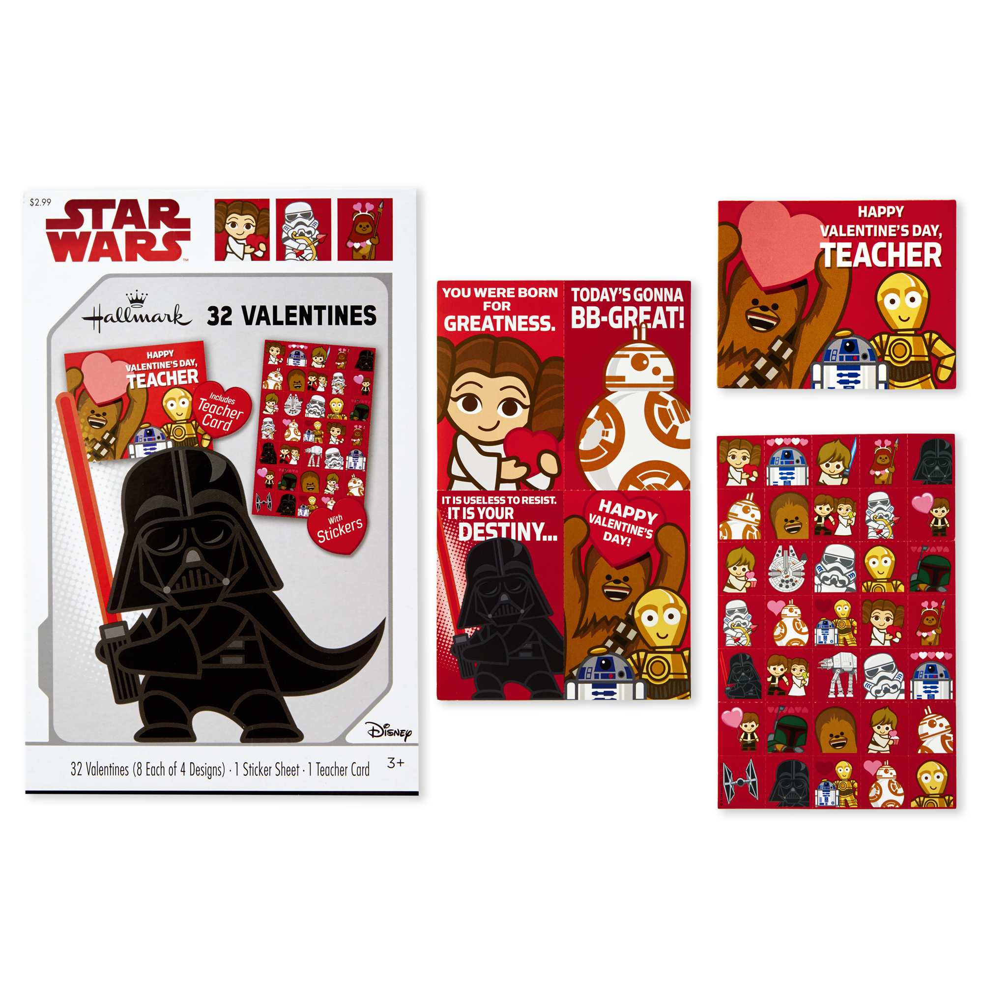 TLJ Valentine's Day Cards Pack 1