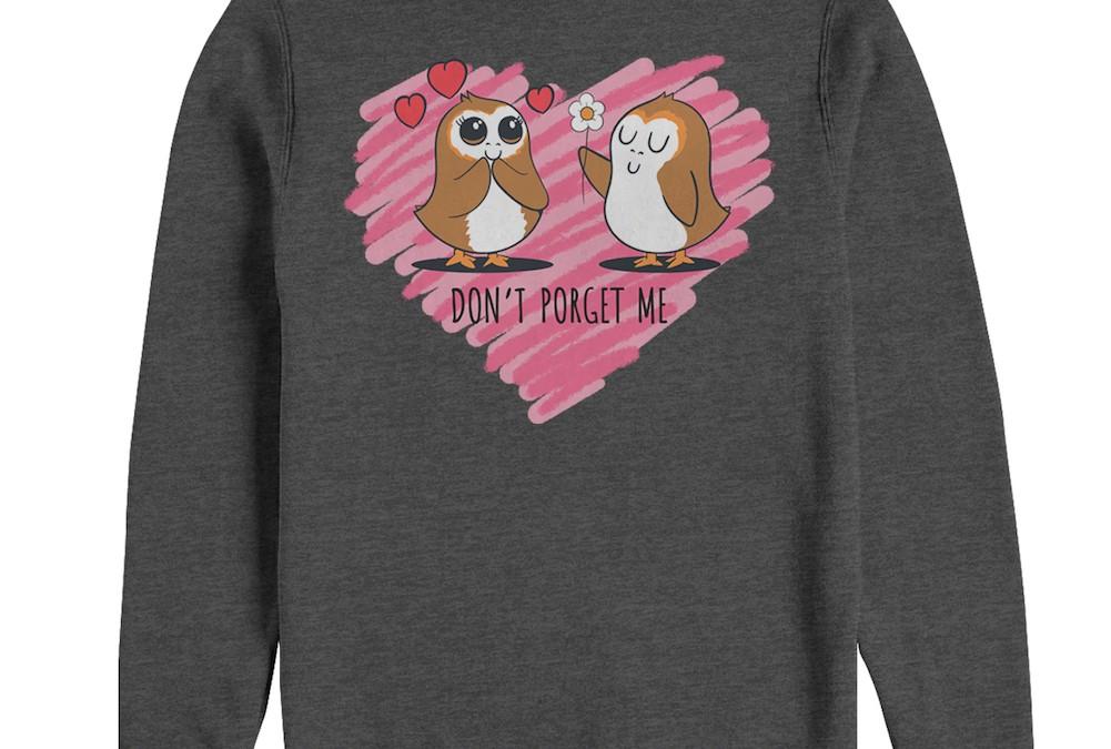 "New Last Jedi Valentine's Day ""Don't Porget Me"" Men's Sweatshirt now in stock!"