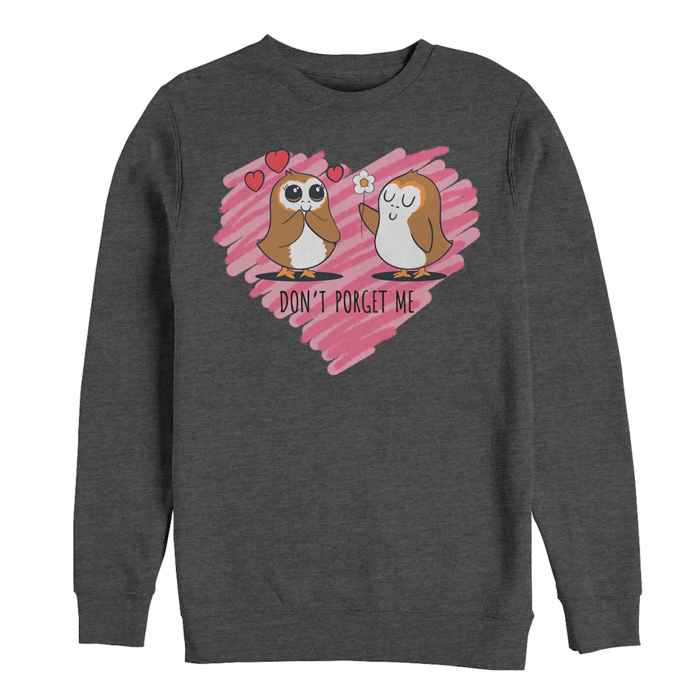 "TLJ Valentine's Day ""Don't Porget Me"" Men's Sweatshirt"