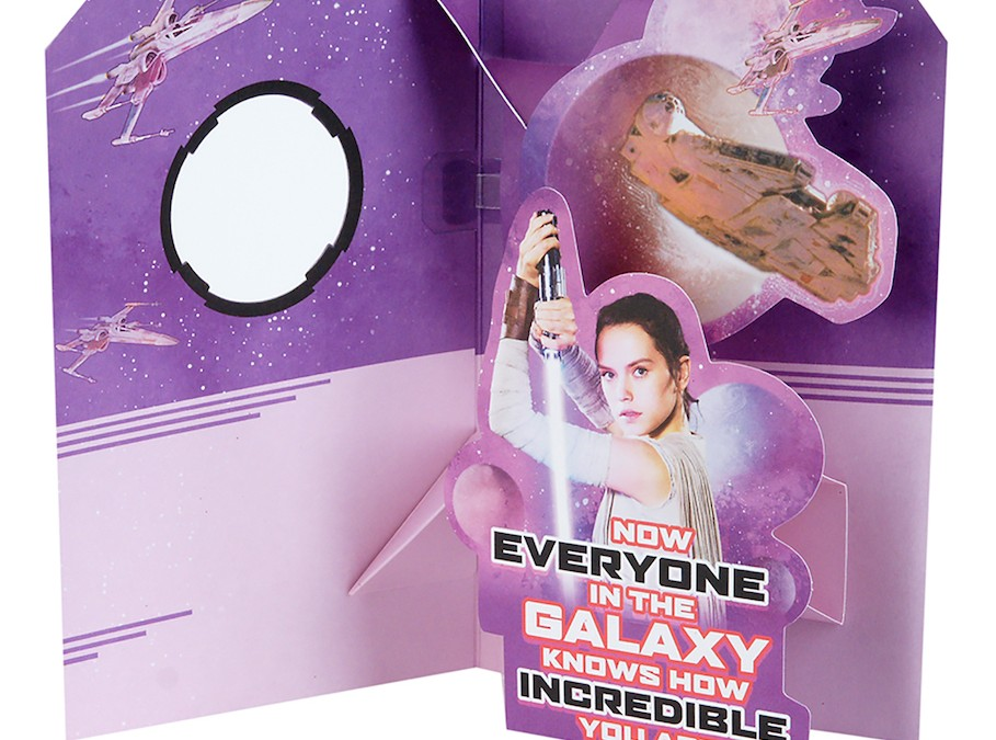 New Last Jedi Rey and BB-8 Valentine's Day Pop-Up Card now available!