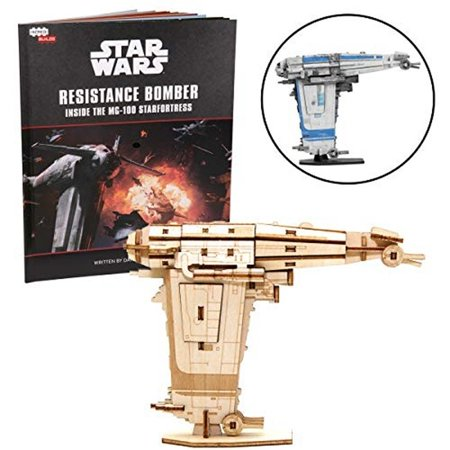 New Last Jedi Resistance Bomber Book and 3D Wood Model Kit Set available!