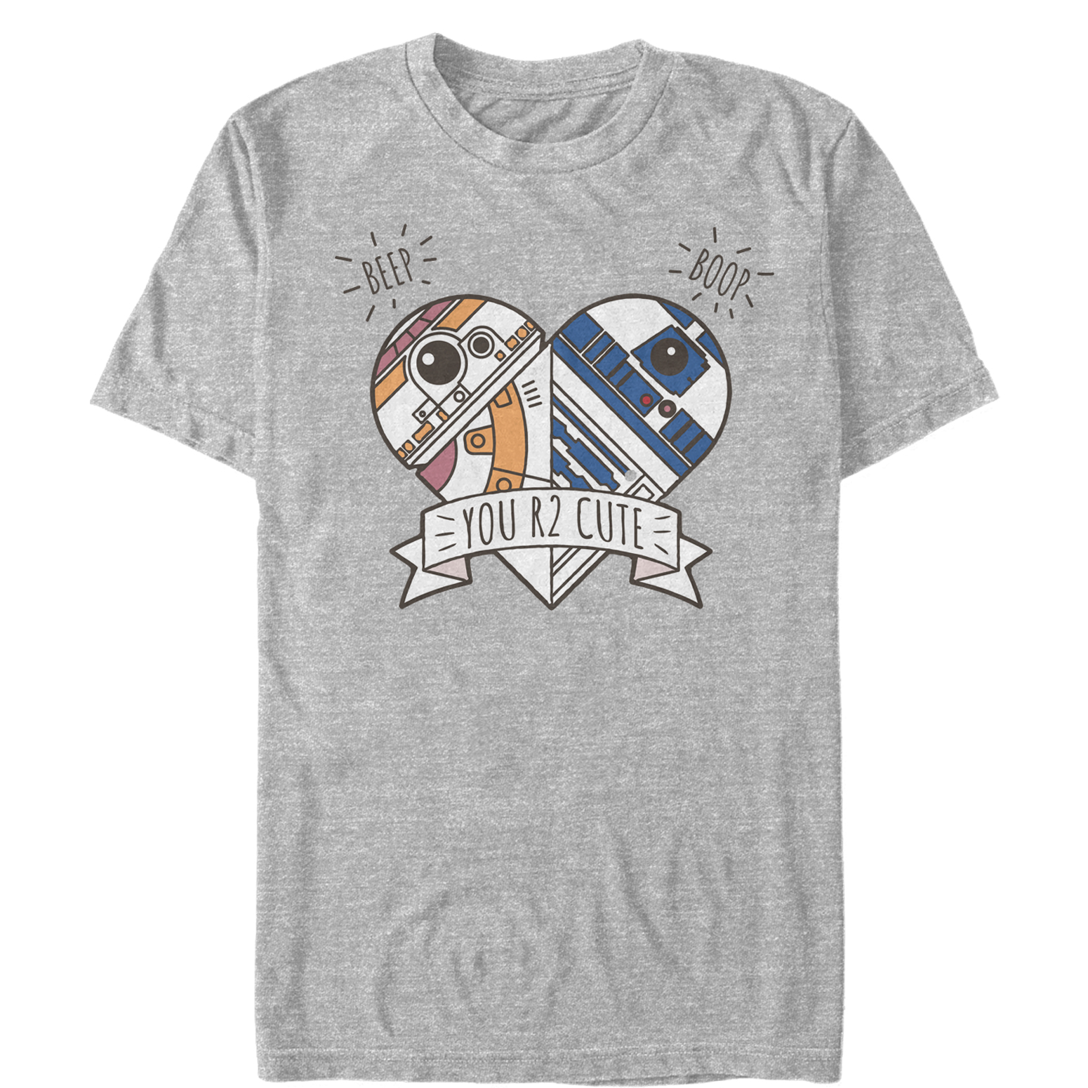 TFA Valentine's Day Cute Droid Heart T-Shirt