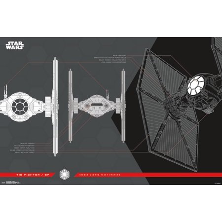 New Last Jedi First Order Tie Fighter Collector's Edition Poster now in stock!