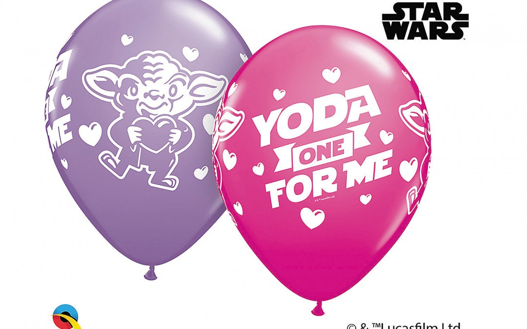 "New Star Wars ""Yoda One for Me"" Valentine's Day Latex Balloon Assortment available now!"