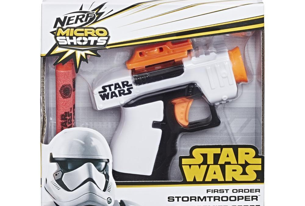 New Last Jedi First Order Stormtrooper Nerf Micro Shots Blaster now in stock!