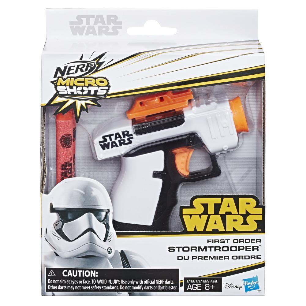 TLJ FO Stormtrooper Nerf Micro Shots Blaster 1