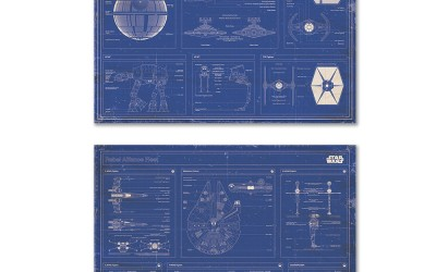 New Star Wars Imperial Fleet & Rebel Alliance Blueprints Poster Set now available!