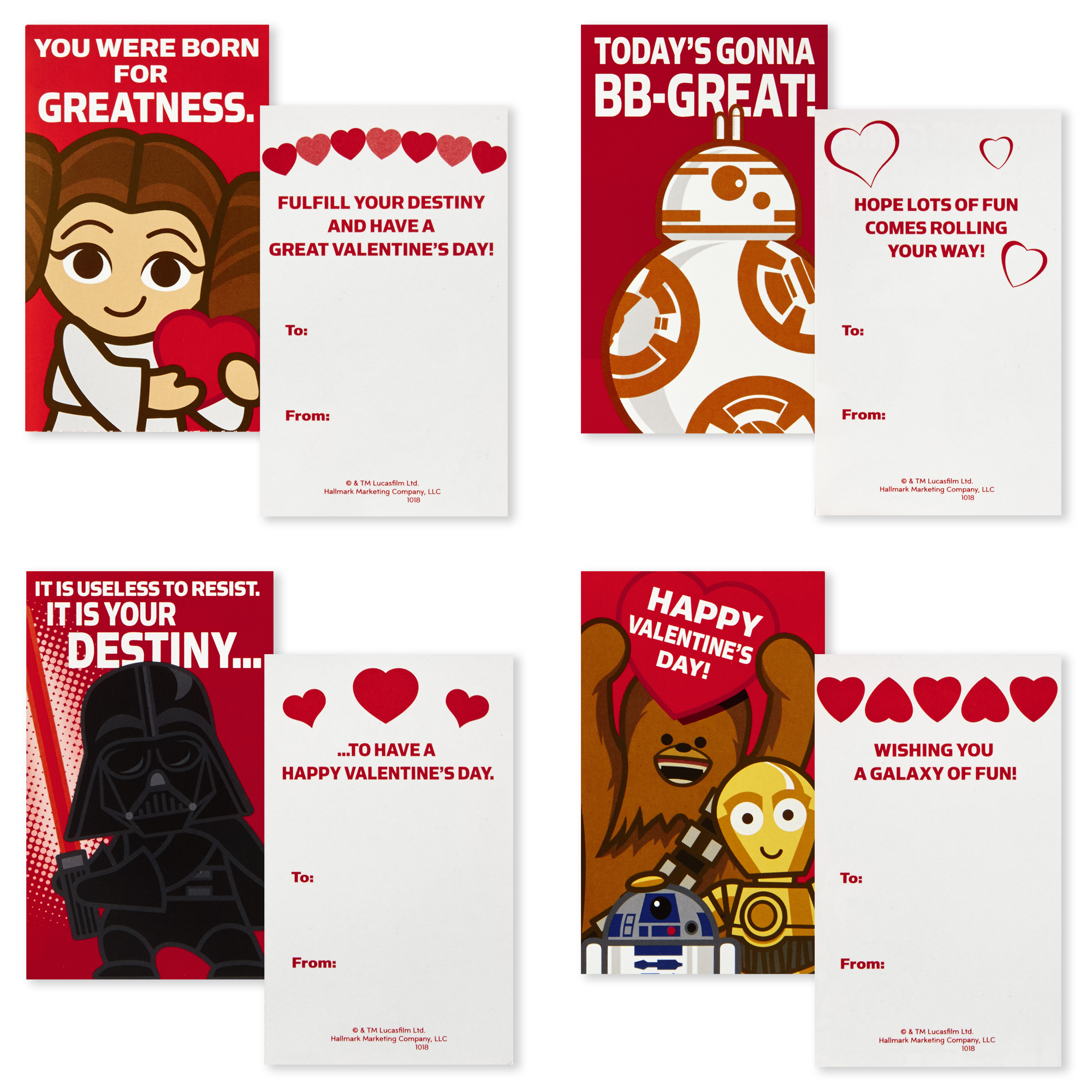 TLJ Valentine's Day Cards Pack 2