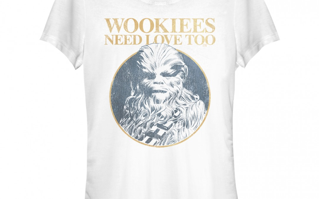 "New Star Wars ""Wookiees Need Love Too"" Valentine's Day T-Shirt now available!"