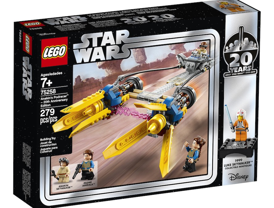 New 20th Anniversary Edition Anakin's Podracer Lego Set now available!