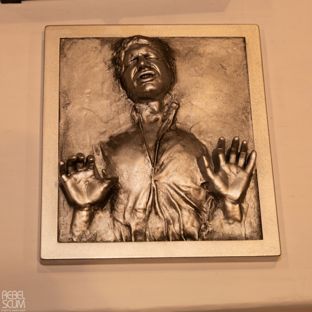TESB Han Solo In Carbonite Mini Plaque