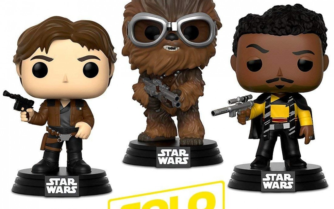 New Solo Movie Funko Han, Chewie and Lando Warp Gadgets Bundle available!