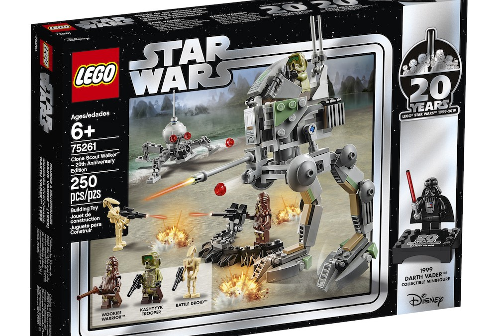 New 20th Anniversary Edition Clone Scout Walker Lego Set now available!