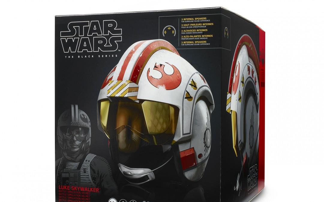 New A New Hope Luke Skywalker Battle Simulation Black Series Helmet available for pre-order!