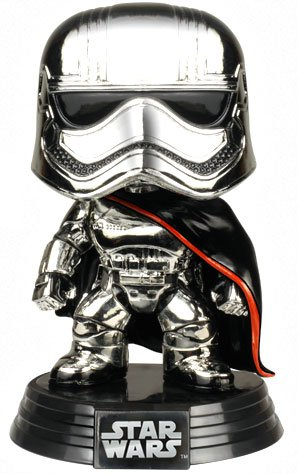 TLJ FP Captain Phasma Chrome Bobble Head Toy 2