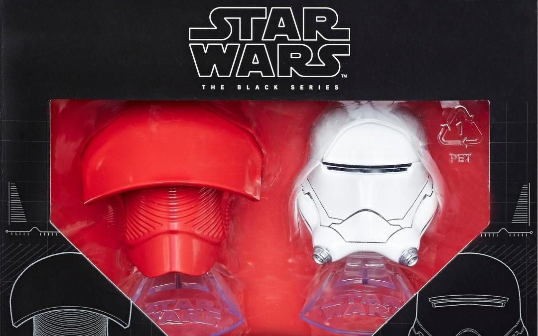 New Black Series Elite Praetorian Guard & Flametrooper Helmets Titanium Series available now!