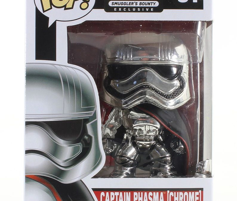 New Last Jedi Funko Pop! Captain Phasma Chrome Bobble Head Toy now available!