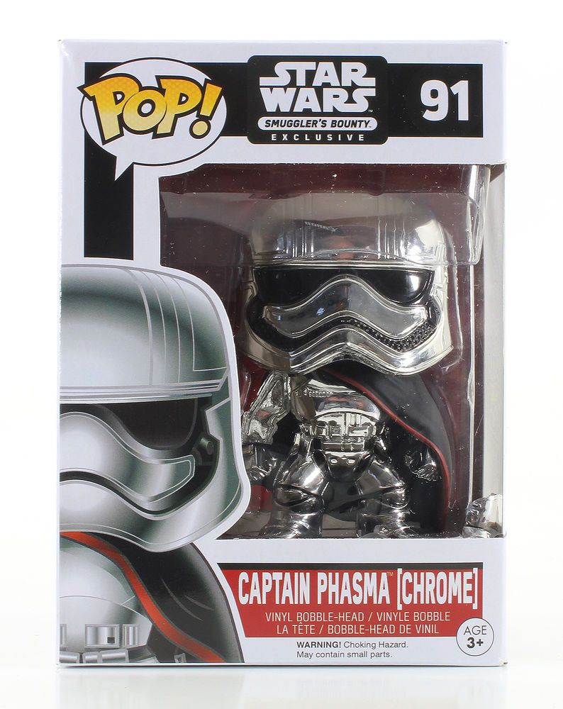 TLJ FP Captain Phasma Chrome Bobble Head Toy 1