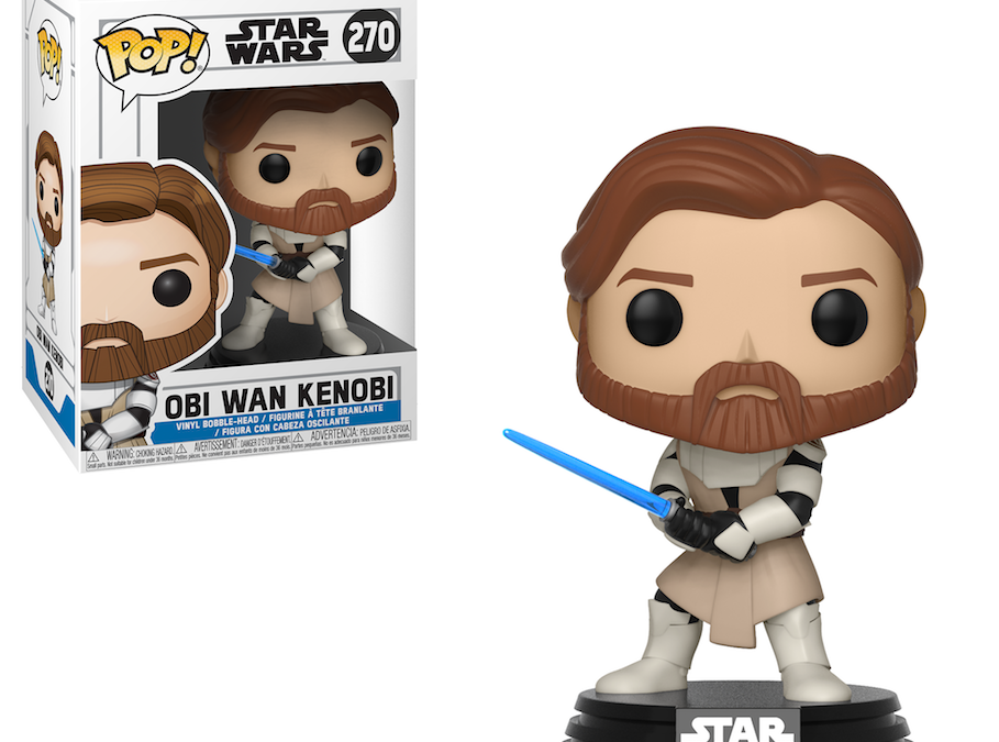 New Star Wars The Clone Wars Obi-Wan Kenobi Bobble Head Toy available now!
