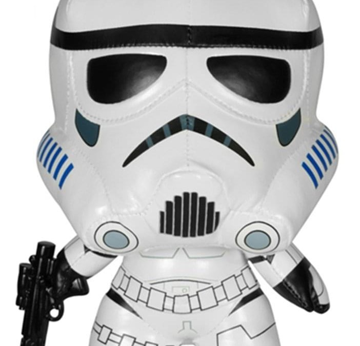New Star Wars Funko Stormtrooper Stand-Up Plush Toy available!